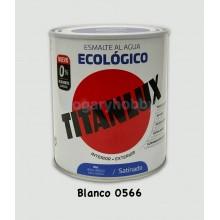 Esmalte Ecológico SATINADO Blanco 566 750 ml. Interior-exterior - Titanlux