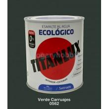 Esmalte Ecológico SATINADO 0562 Verde Carruajes  750 ml. Interior-exterior - Titanlux