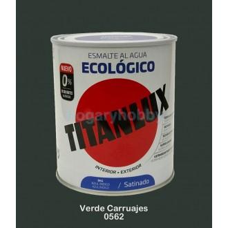 Esmalte Ecológico BRILLANTE 0562 Verde Carruajes 750 ml. Interior-exterior - Titanlux