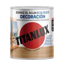 Titanlux - Barniz al agua ECOLOGICO DECORACION BRILLANTE Castaño 1001