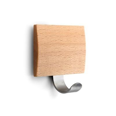 Colgador adhesivo madera claro