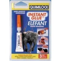 Pegamento instantáneo Instant Glue Elefant 3 gr y 5 gr. - Quimilock