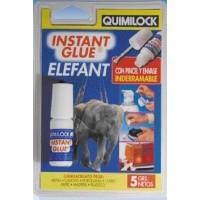 Instant Glue Elefant 5 gr. con Pincel - Quimilock