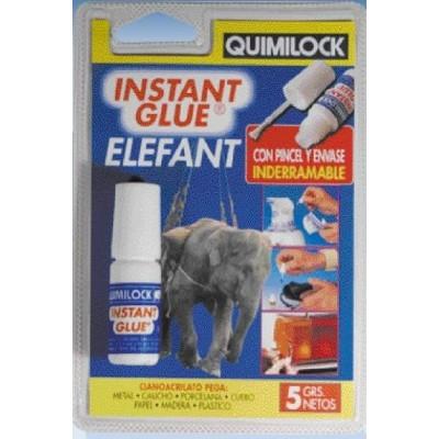 Pegamento instantáneo Instant Glue Elefant 5 gr. con Pincel - Quimilock